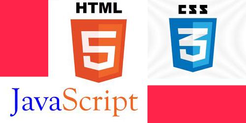 logos Javascript, HTML5, CSS3